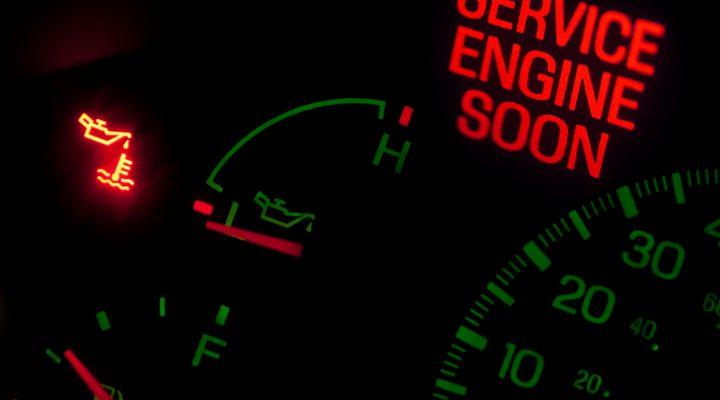 beware dashboard oil light