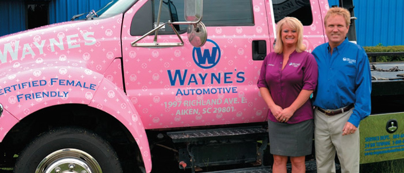 jeff and sherry corbett at waynes automotive and towing aiken sc